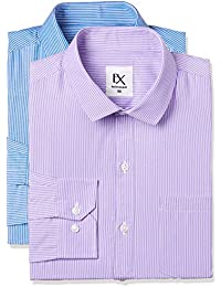 Excalibur by Unlimited Men's Solid Regular Fit Formal Shirt (Pack of 2)
