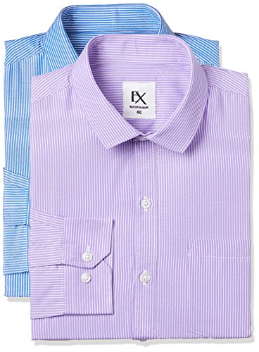 Excalibur by Unlimited Men's Solid Regular Fit Formal Shirt (Pack of 2) (275358634 ASSORTED 42)