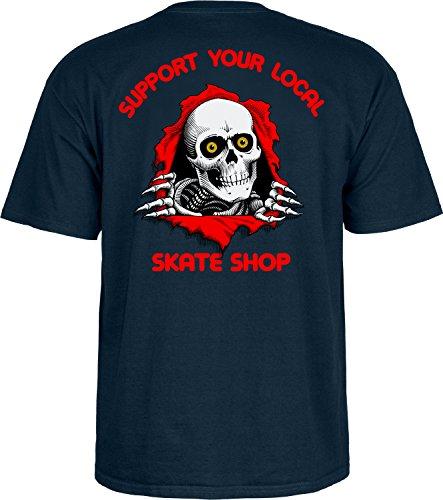 Herren T-Shirt Powell Peralta Support Your Local Skate Shop T-Shirt Navy