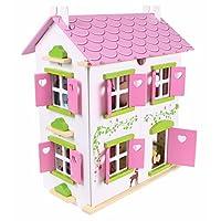 Puppenhaus Puppenstube Landhaus Möbel 2 Etagen Kinder Holz 4104