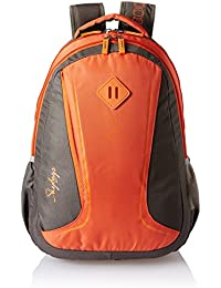 Skybags 25 Ltrs Grey and Orange Casual Backpack (BPLEO5GOE)