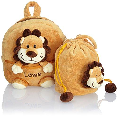 HAUPTSTADTKOFFER Kinder-Rucksack Kinderrucksack Kitatasche Reisegepäck Rucksack Tiere Kuscheltier (Rucksack
