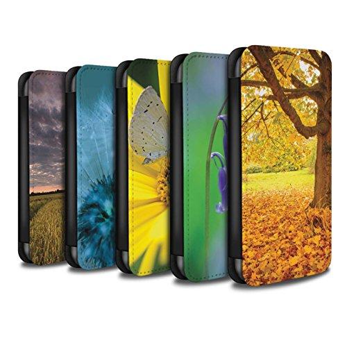 Stuff4 Coque/Etui/Housse Cuir PU Case/Cover pour Apple iPhone X/10 / Jacinthe des Bois Design / Jardins Anglais Collection Pack 10pcs