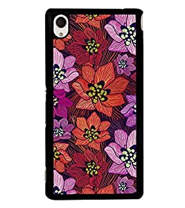 PrintVisa Designer Back Case Cover for Sony Xperia M4 Aqua :: Sony Xperia M4 Aqua Dual (Nature Flowers rose jasmine sunflower)
