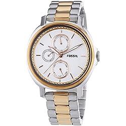Fossil Damen-Armbanduhr Chelsey Analog Quarz Edelstahl ES3356