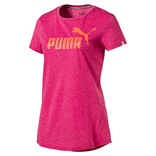 Puma Ess No. 1Thé Heather W T-shirt Rose clair