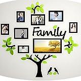 Chiodatrici per Cornici Photo Frame Acrilico 3D Wall Sticker Creativo Albero Foto Memory Tree Wall Stickers Living Room Divano Sfondo TV Wall Decorazione della parete 180cm-180cm Cornici foto ( Colore : A )