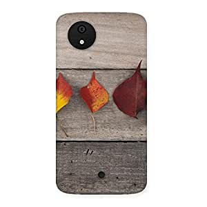 Leaves on Wood Back Case Cover for Micromax Canvas A1
