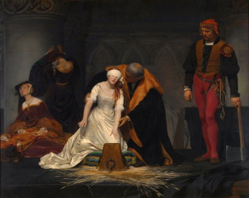 THE EXECUTION OF LADY JANE GREY by PAUL DELAROCHE Reproduction Poster on 200gsm A3 Satin Art Card