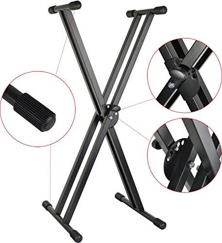 Steinbach Keyboardständer doppelstrebig schwarz bis 50 kg 67-98 cm