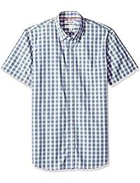 Marca Amazon - Goodthreads Standard-fit Short-sleeve Large-scale Plaid Shirt - button-down-shirts Hombre