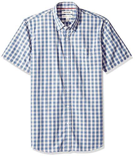 Goodthreads camicia a maniche corte in poplin standard fit uomo
