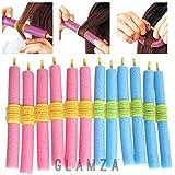 Glamza - 12bigoudis magiques - Mous et flexibles - Sans chaleur - Facile à utiliser pour boucler les cheveux