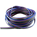 VIPMOON 10M 4pin Extension Cable Line Wire for RGB 5050 3528 LED Strip Lights