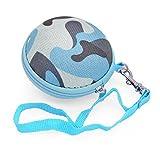 iprotect Schutztasche Hülle Box für Kopfhörer Ohrstöpsel u.A. / inkl. Netztasche Camouflage Design in Blau