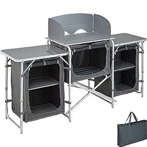 TecTake 800585 Outdoor Camping Küche – Diverse Modelle wähblar –