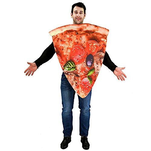 igitaldruck -Erwachsen-Kostüm Pizzascheibe ()