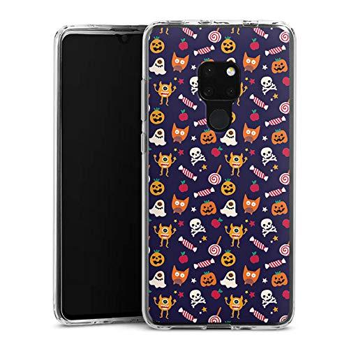 (DeinDesign Silikon Hülle kompatibel mit Huawei Mate 20 Case Schutzhülle Geist Halloween Muster Suess)