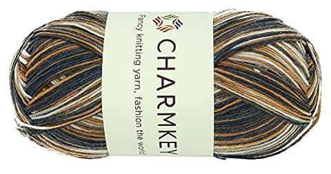 Charmkey Painted Fil bébé doux mince tricoter 2impressions fine coloré