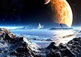 Vliestapete Neuer Planet 400cm x 280cm Fototapete Tapete - Wanddeko - Tapete - Wandbild - Fotogeschenk - Wand Dekoration