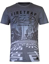 Firetrap Mens Blackseal Tokyo T Shirt Crew Neck Lightweight