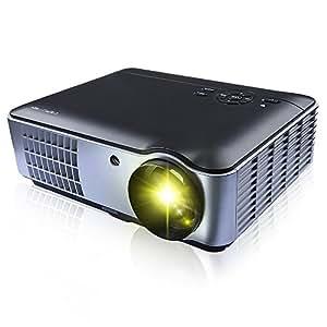 DBPOWER 2 x HDMI 2 x USB LED 1080p HD Multimedia Home Cinema Projector - Black