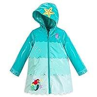 Disney Store Deluxe Ariel The Little Mermaid Rain Jacket Size L Large 9-10 Green