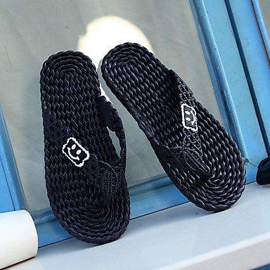 Slippers & amp da uomo;Pelle leggera estiva Soles microfibra informale all'aperto sandali piani del tallone sandali US7.5 / EU39 / UK6.5 / CN40