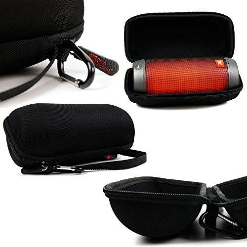 Etui coque rigide noir pour JBL Pulse 2 Enceintes PC / Stations MP3 RMS 8 W Bluetooth / JBL Harman enceinte portable nomade - Poignée, zip + mousqueton - DURAGADGET