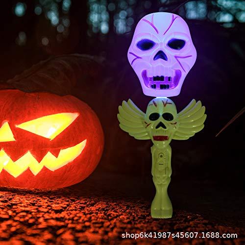 Pandiki Halloween-Party-Dekoration Rütteln Stock-Schläger Kürbis-Hexe-Geist-Schreien glühende Wand Kinderspielzeug -