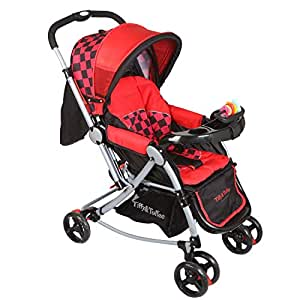 Tiffy & Toffee 3 in 1 Baby Stroller Pram (Red/Black)