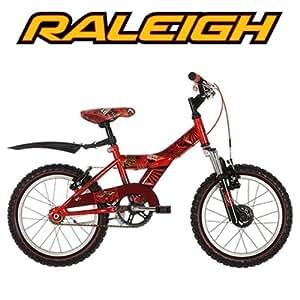 "Raleigh Atom 16"" Childrens Bike - Red - Unisex."