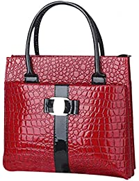 Zibuyu New Women Handbag Shoulder Bags Tote Purse PU Leather(red)