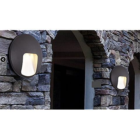 XASYD outdoor luci da parete cortile esterno impermeabile luce corridoio esterno corridoio polvere Led giardino ,3W Lampade da