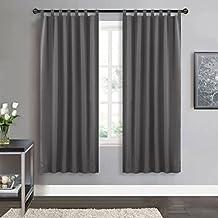Blickdichte Vorhange Wohnzimmer Schlaufen Grau