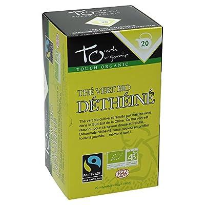 Touch organic Thé Vert Déthéiné Bio 20 Sachets 30 g - Lot de 3
