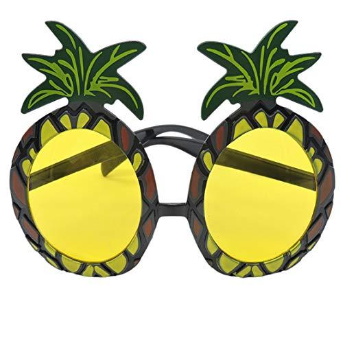 LouiseEvel215 Neuheit Hawaiian Beach Style Lustige Ananas Form Sonnenbrillen Brille für Kostümfest Ereignis Lieferungen