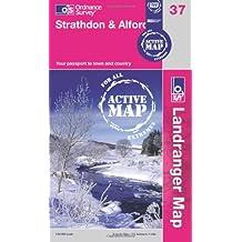 Strathdon & Alford (OS Landranger Active Map)