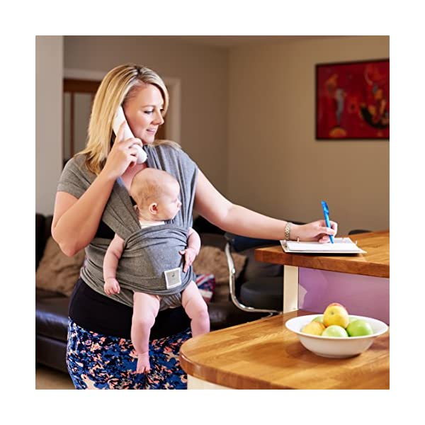 Premium Baby Carrier | Neutral Grey | One Size Fits All | Cozy & Soothing For Babies | Suitable for Newborns, Infants & Toddlers | Cotton/Spandex Comfort Fabric |100% Infinity Guarantee | Ideal Gift Funki Flamingo ENJOY FREE HANDS AGAIN: Get your freedom back. Do housework, grab a coffee, shop & tend to other kids while keeping baby close. Baby stays happy while you're more productive & less stressed. Great for fussy babies! STRENGTHEN BOND WITH BABY: Forging a close bond with your infant is vital to their development. Our wrap keeps baby close to your warm body & heartbeat where they feel safe & secure. For newborn - 35 lbs. UNBEATABLE QUALITY: Manufactured with premium materials to ensure years of use and repeated washings. Sturdy fabric holds your baby safely & securely. This is a wrap you'll pass on to friends and family! 7
