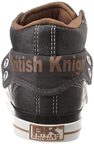 British Knights Roco, Baskets Basses Homme GRIS FONCÉ/COGNAC