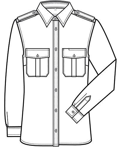 Greiff Classixx Damen Pilothemd Bluse 6657 langarm Weiß