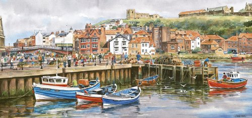 Gibsons - Whitby Harbour 636 Piece Jigsaw Puzzle