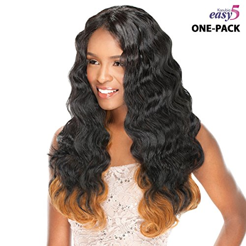 [4 mèches Pack complet + Closure] sensationnel Natural Body-Easy 5 (kanubia HRF) – Weave One Pack Solution – BRAZILIAN Hair Curl Patterns – Tresse Soyeuses Géante/Weave Extension