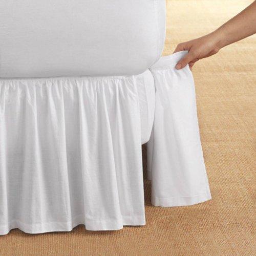 Bedskirt polvere, con coperchio removibile, dimensione doppia
