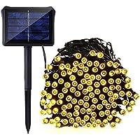 Ultr astyle catena di 200luci a LED a energia solare giardino esterno luce bianca 20m, 8modalità luce decorativa per terrazza, Party, matrimoni corte, campeggio, Natale, etc.