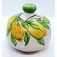 Nascondispugna Linea Limoni per Cucina e Bagno Handmade Le Ceramiche del Castello 100% Made in Italy