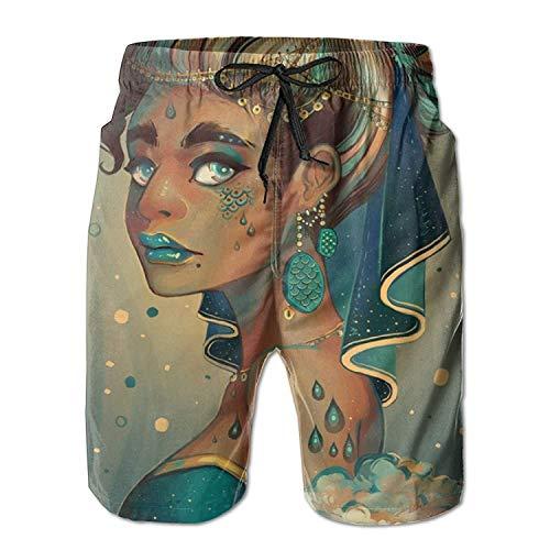 KLYDH African American Black Royal Women Classic Summer Casual Beach Shorts Pants for Men Boys (Royal Blue Classic Mesh Shorts)