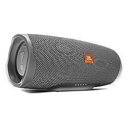 JBL Charge 4 Bluetooth-Lautsprecher - Wasserfeste, portable Boombox mit integrierter Powerbank - Mit nur einer Akku-Ladung bis zu 20 Stunden kabellos Musik streamen Grau