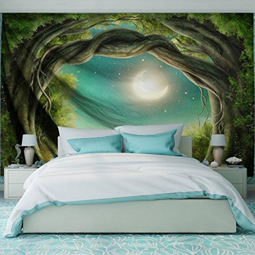 QiYI - Tapiz de tela de poliéster para decoración de pared, paisaje natural, para dormitorio de estudiantes, habitación, comedor, 153 cm x 102 cm, diseño Fantasy Forest, poliéster y mezcla de poliéster, Fantasy Forest, 229cmx153cm