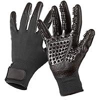 TAKURO Baden & Grooming Handschuhe für haustier Professionell Fellpflege Handschuh für Katzen/Hunde/Pferd Fördern Sie Blutzirkulation (Schwarz)